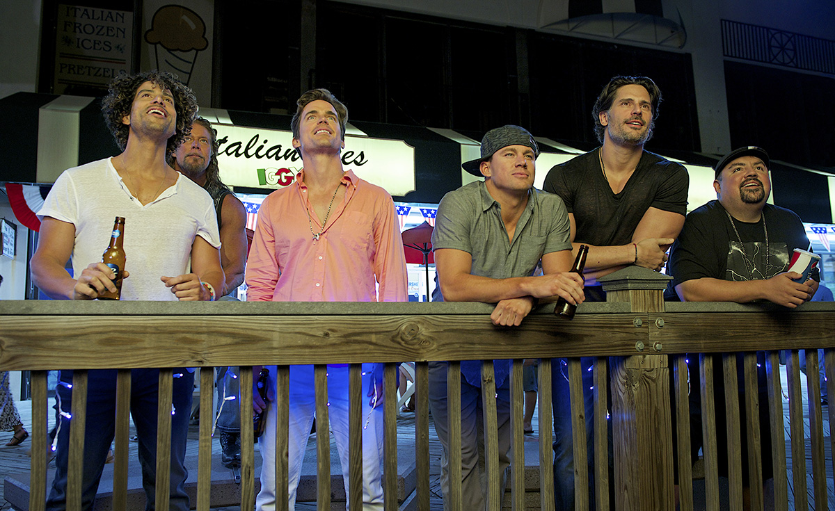 Adam Rodriguez, Kevin Nash, Matt Bomer, Channing Tatum, Joe Manganiello y Gabriel Iglesias en Magic Mike XXL