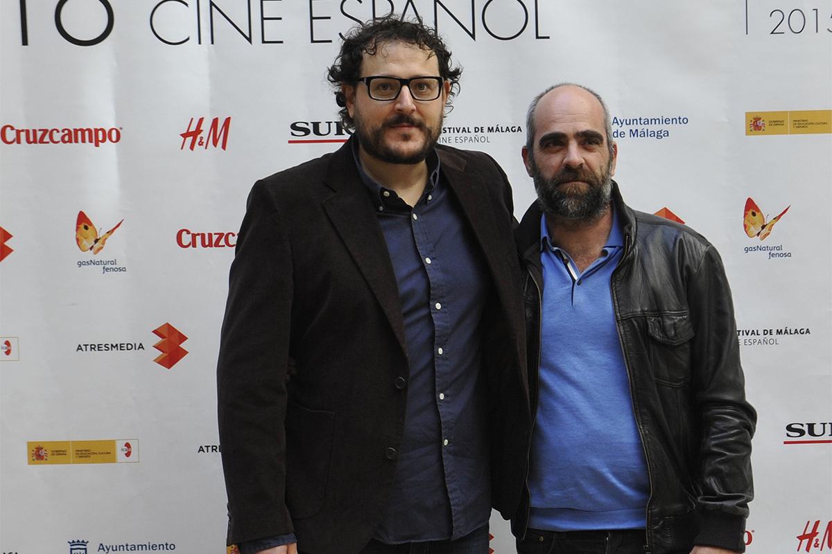 Dani de la Torre y Luis Tosar en la presentación de las primeras imágenes de El desconocido en el 18 festival de Málaga