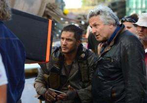 Tom Hardy y George Miller en el rodaje de Mad Max: Furia en la carretera