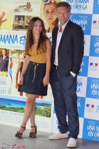 Lola Le Lann y Vincent Cassel en la presentación de Una semana en Córcega
