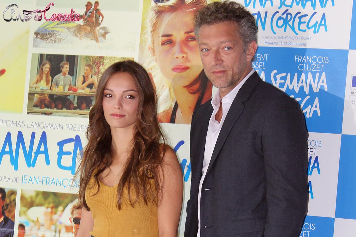 Lola Le Lann y Vincent Cassel en la presentación de Una semana en Córcega (3)