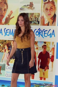 Lola Le Lann en la presentación de Una semana en Córcega