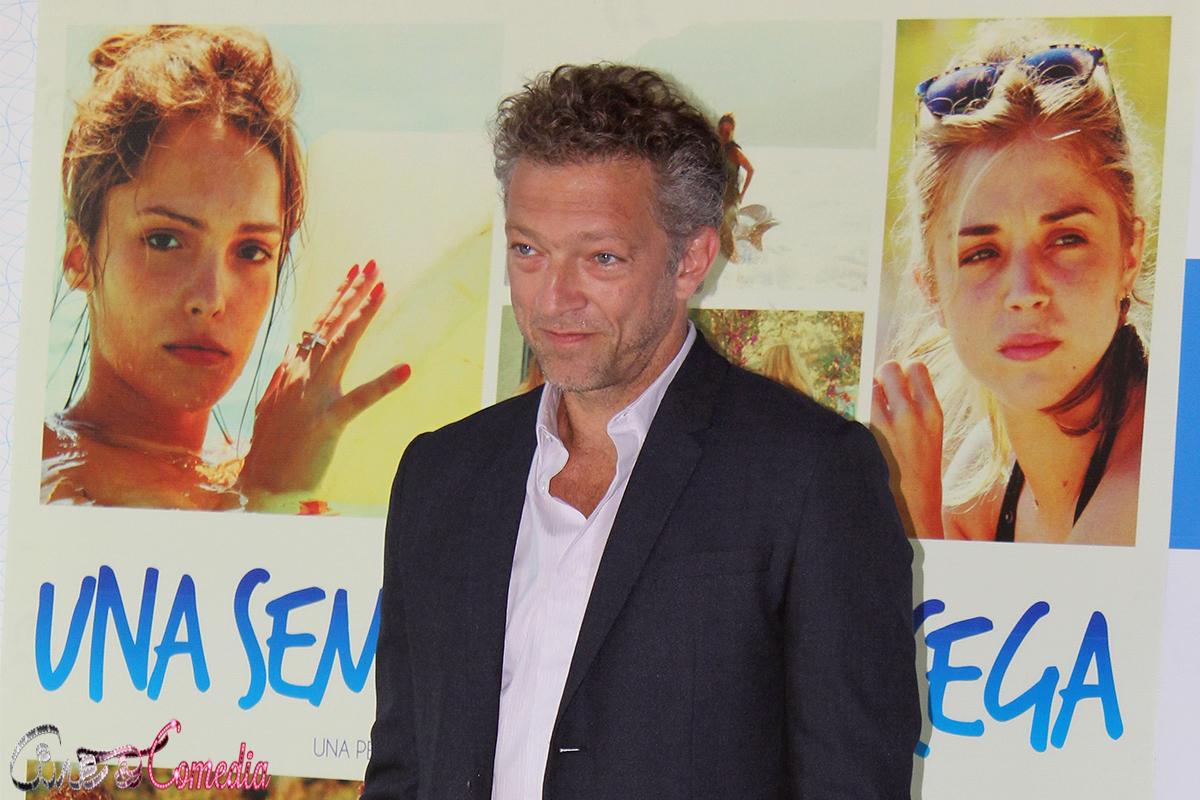 Vincent Cassel en la presentación de Una semana en Córcega