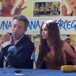 Vincent Cassel y Lola Le Lann en la presentación de Una semana en Córcega