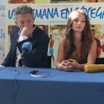 Vincent Cassel y Lola Le Lann en la presentación de Una semana en Córcega (2)