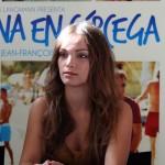 Lola Le Lann en la presentación de Una semana en Córcega (2)