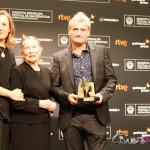 Marian Fernández, Amparo Badiola y Asier Altuna en el 63 Festival de San Sebastián