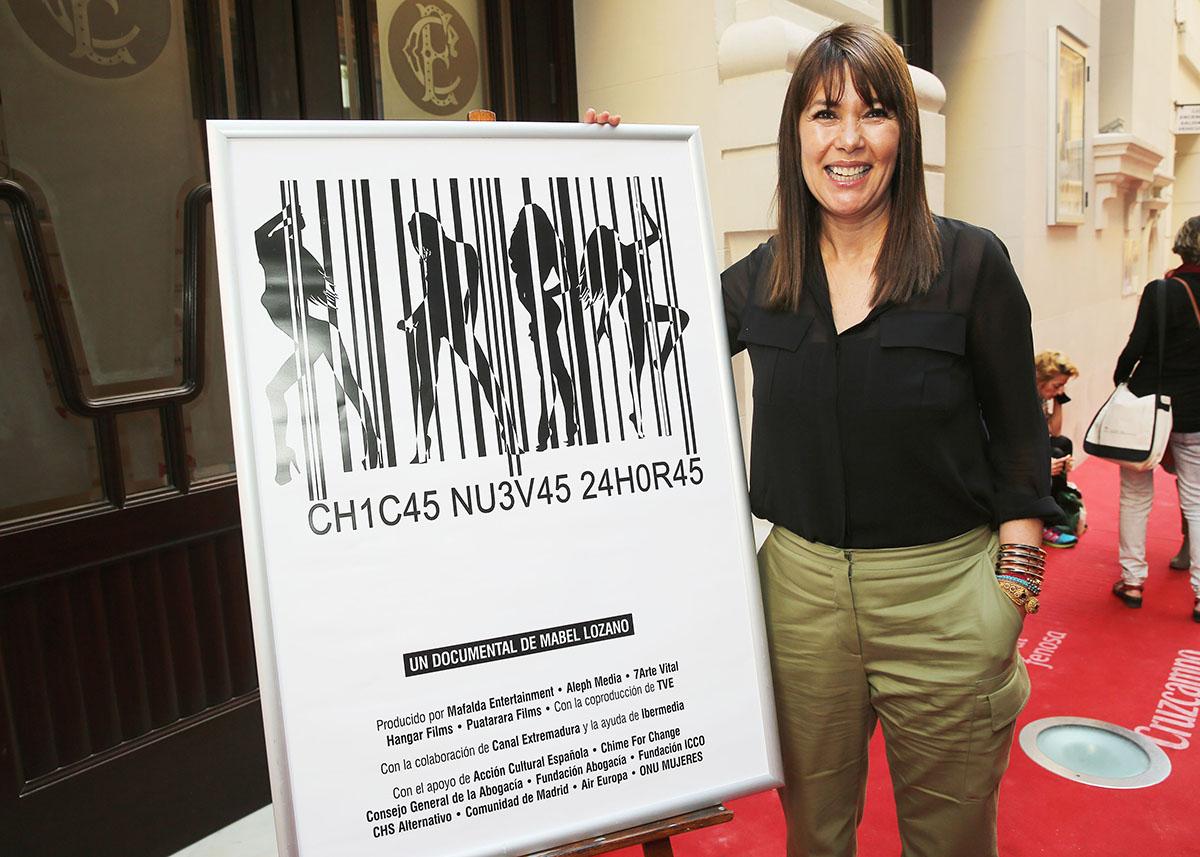 Mabel Lozano en la presentación de Chicas Nuevas 24 Horas en el 18 festival de Málaga
