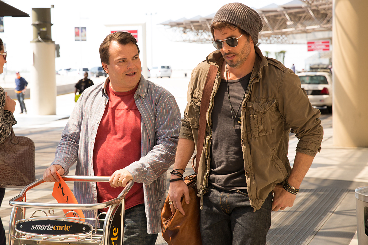 Jack Black y James Marsden en The D Train
