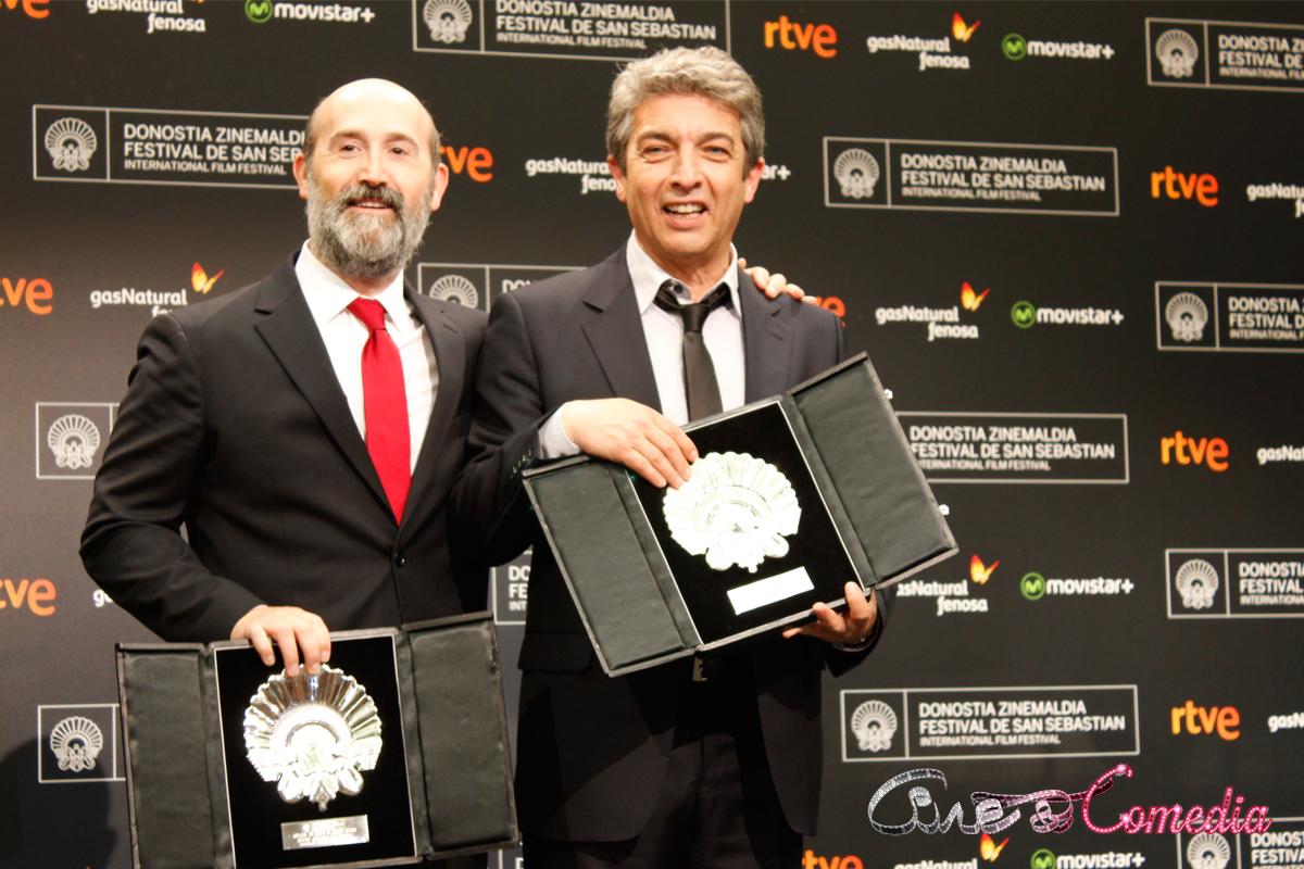 Javier Cámara y Ricardo Darín en el 63 Festival de San Sebastián