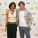 Emilio Palacios y Beatriz Medina en la presentación de Los héroes del mal en el 18 festival de Málaga