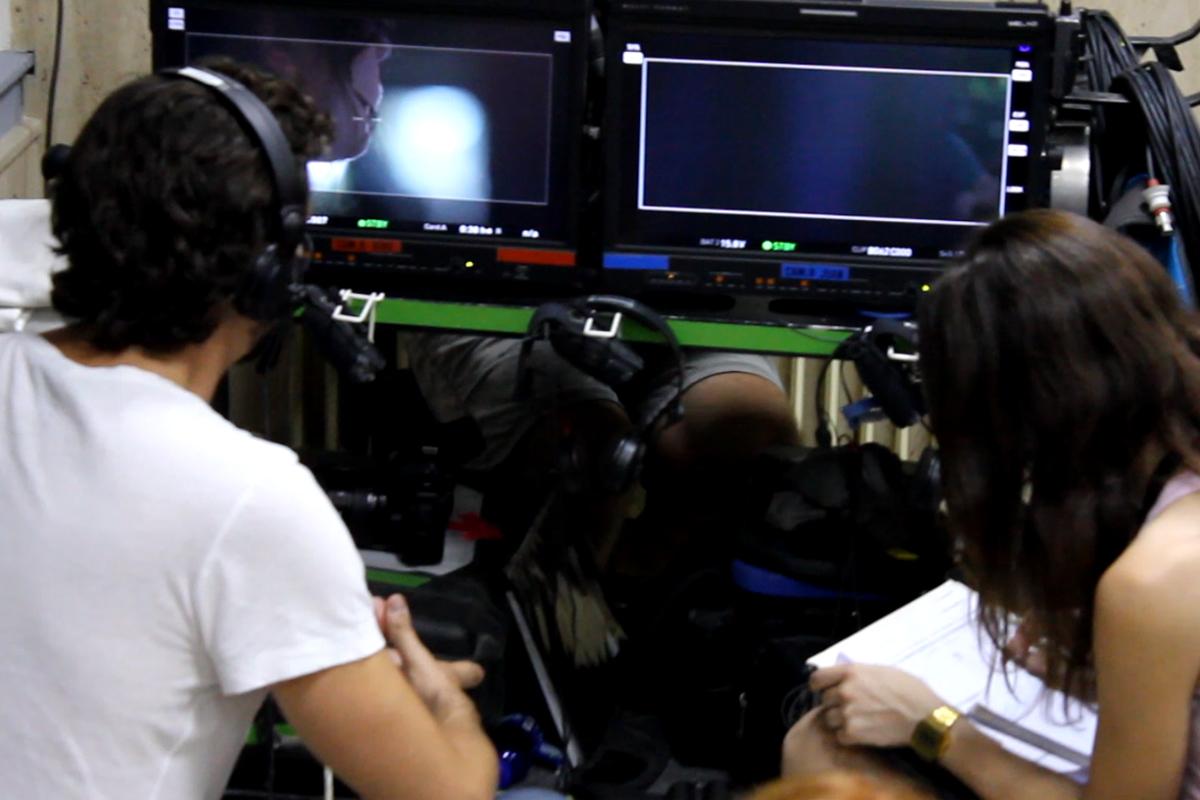 Paco León en el combo durante el rodaje de Kiki, el amor se hace