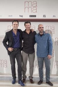 Asier Etxeandia, Julio Medem y Luis Tosar en la presentación de Ma ma