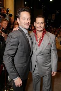 Scott Cooper y Johnny Depp en el Festival de Toronto 2015