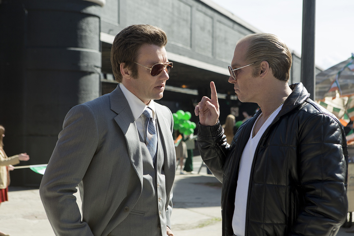 Joel Edgerton y Johnny Depp en Black Mass