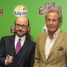 Santiago Segura y Arturo Fernández en la presentación de Hotel Transilvania 2