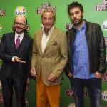 Santiago Segura, Arturo Fernández y Dani Martínez en la presentación de Hotel Transilvania 2