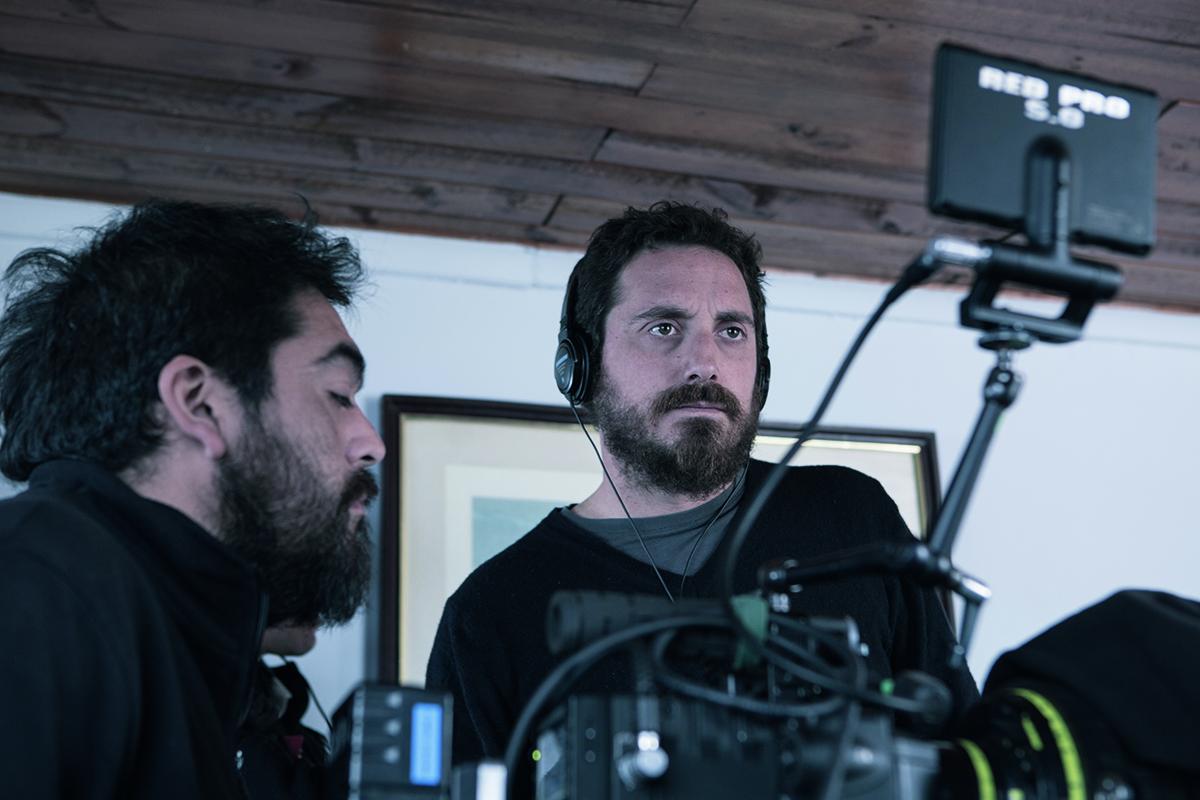 Roberto Farías y Pablo Larraín en el rodaje de El Club