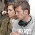 María León y Peris Romano en el rodaje de Los miércoles no existen