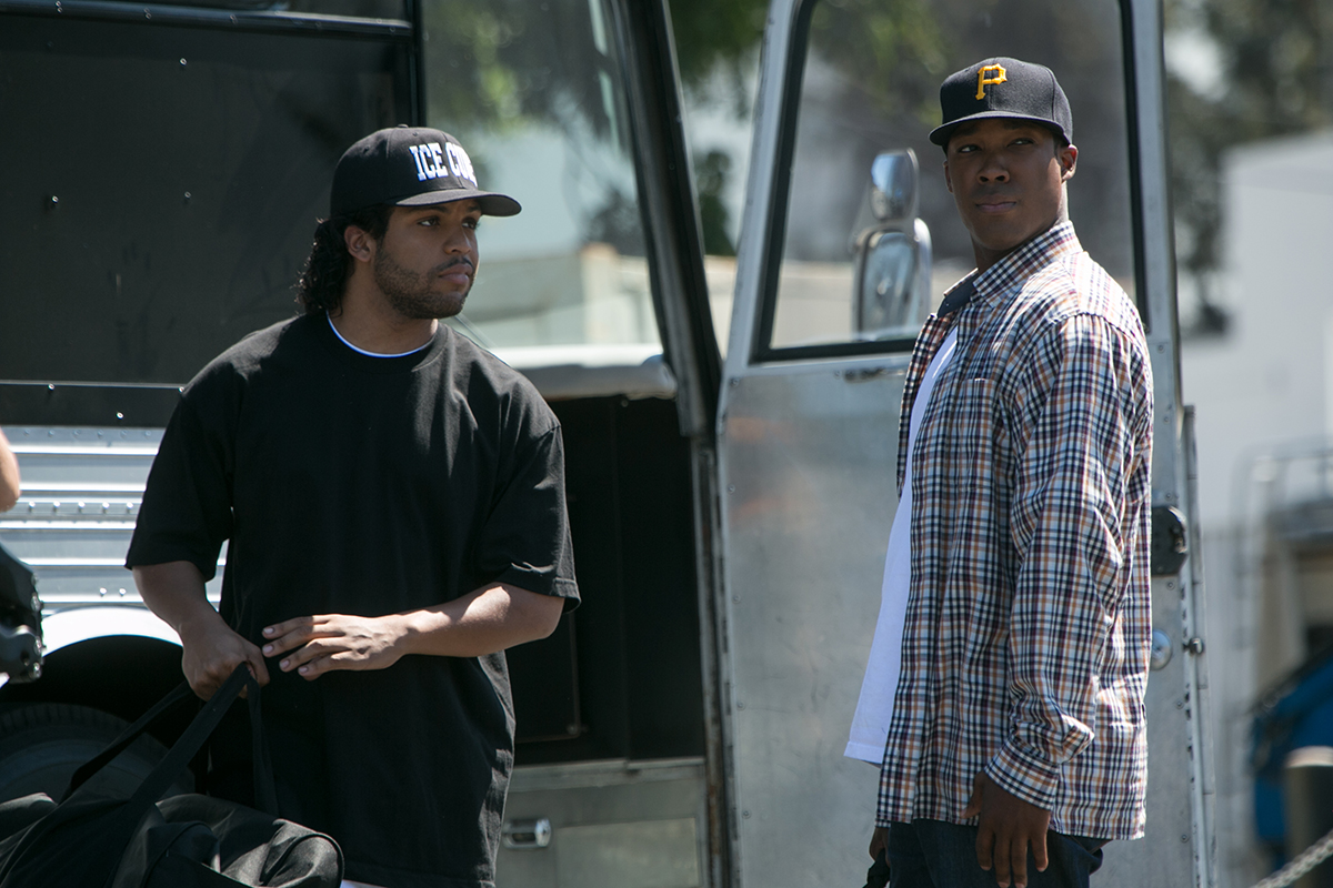 O'Shea Jackson Jr. y Corey Hawkins en Straight Outta Compton