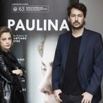 Dolores Fonzi y Santiago Mitre en la presentación de Paulina