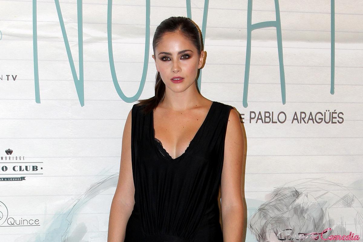 Lucía Ramos en la premier de Novatos