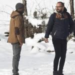 Djedje Apali y Fernando González Molina en el rodaje de Palmeras en la nieve