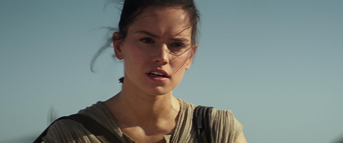 Daisy Ridley en Star Wars: El despertar de la fuerza