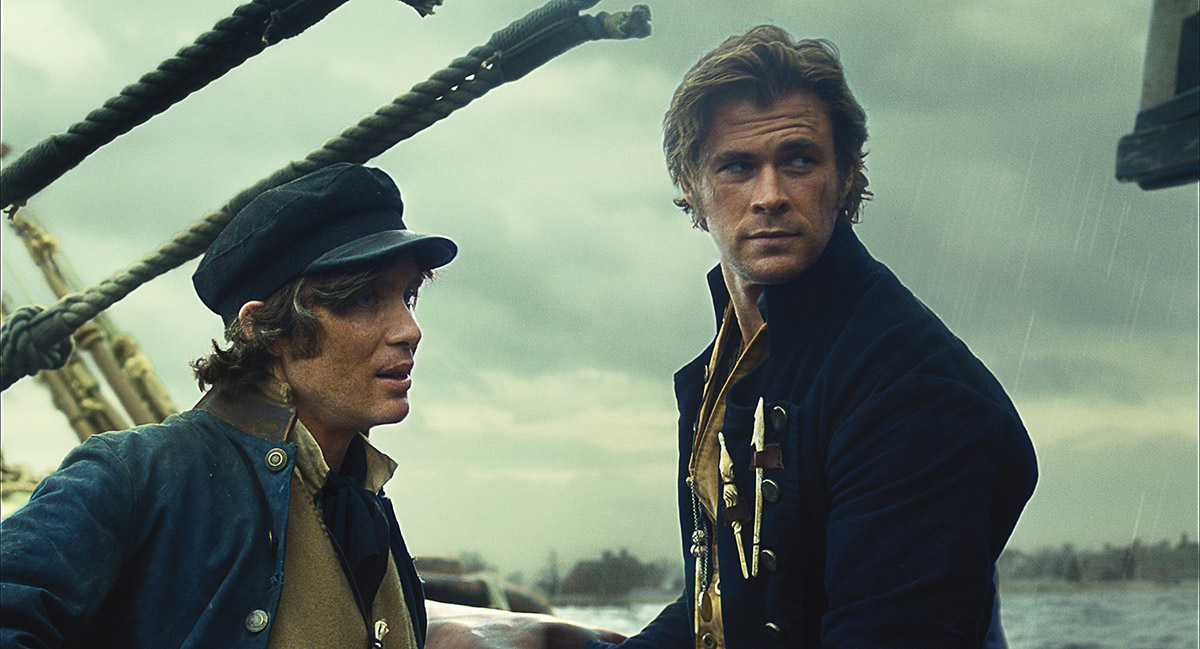 Cillian Murphy y Chris Hemsworth en En el corazón del mar