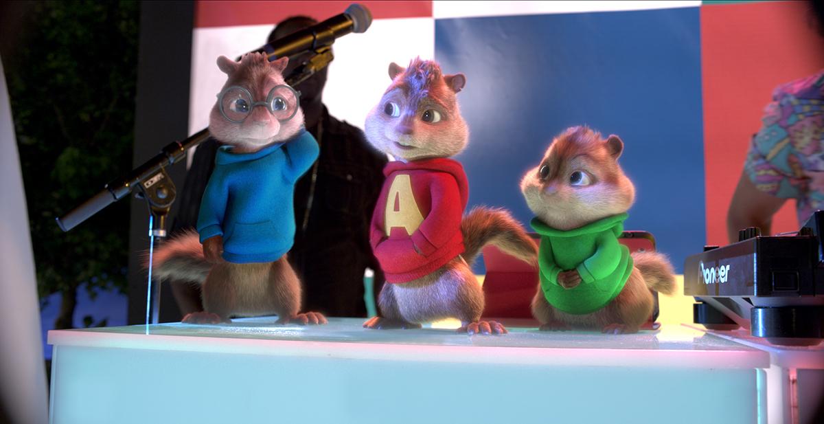 Simon, Alvin y Theodore en Alvin y las ardillas: Fiesta sobre ruedas