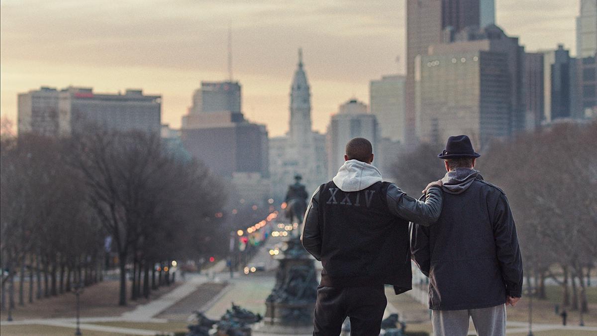 Michael B. Jordan y Sylvester Stallone en Creed. La leyenda de Rocky