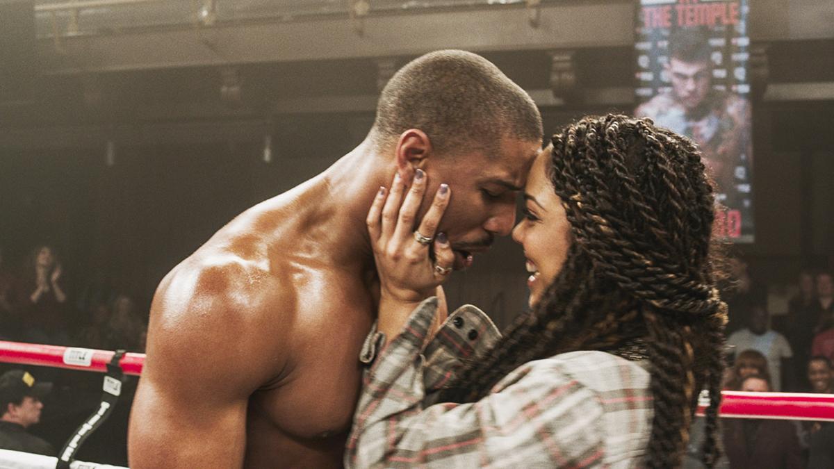 Michael B. Jordan y Tessa Thompson en Creed. La leyenda de Rocky