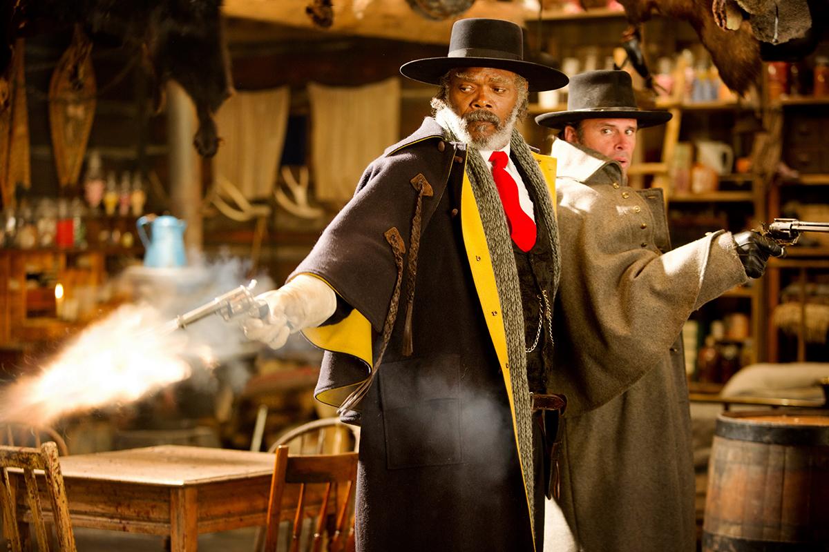 Samuel L. Jackson y Walton Goggins en Los odiosos ocho