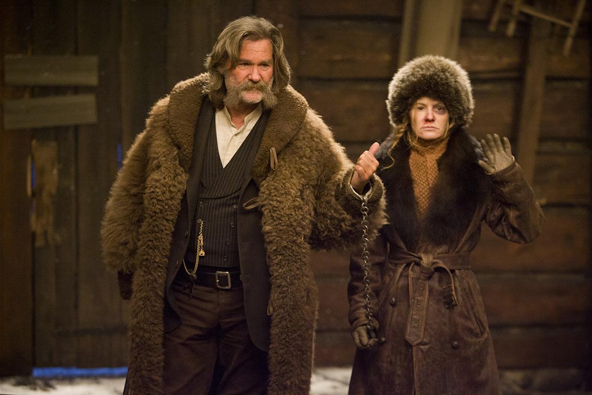Kurt Russell y Jennifer Jason Leigh en Los odiosos ocho