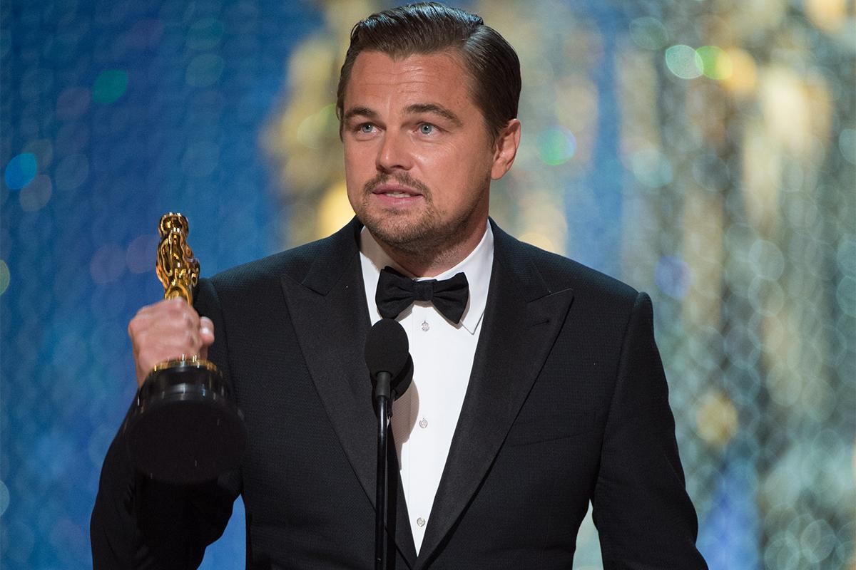 Leonardo DiCaprio en los Oscars 2016 (Oscars®)