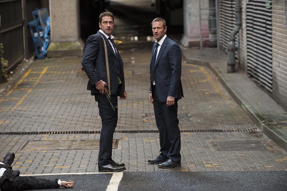Gerard Butler y Aaron Eckhart en Objetivo: Londres