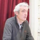 Miguel Santesmases en la presentación de Madrid, Above the Moon