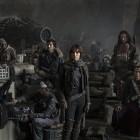 Riz Ahmed, Diego Luna, Felicity Jones, Jiang Wen y Donnie Yen en Rouge One: Una historia de Star Wars