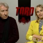 José Sacristán e Ingrid García Jonsson en la presentación de Toro
