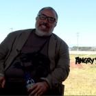 Álex de la Iglesia y Cristina Castaño en la presentación de Angry Birds, la película