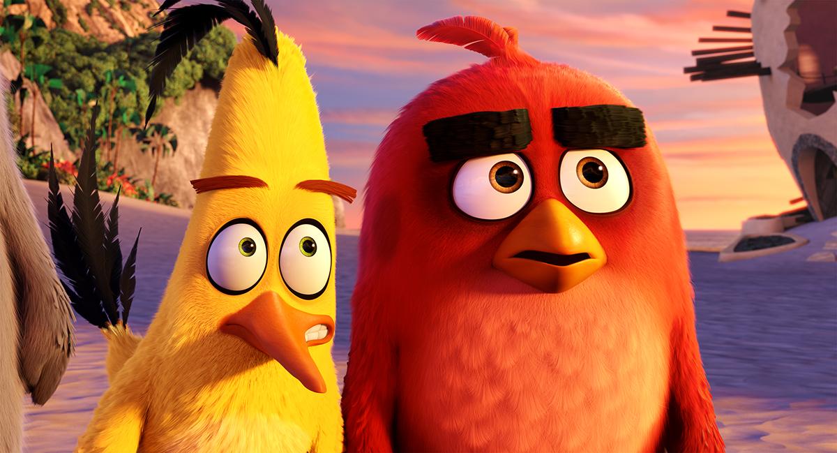 Chuck y Red en Angry Birds, la película