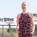 Cristina Castaño en la presentación de Angry Birds, la película