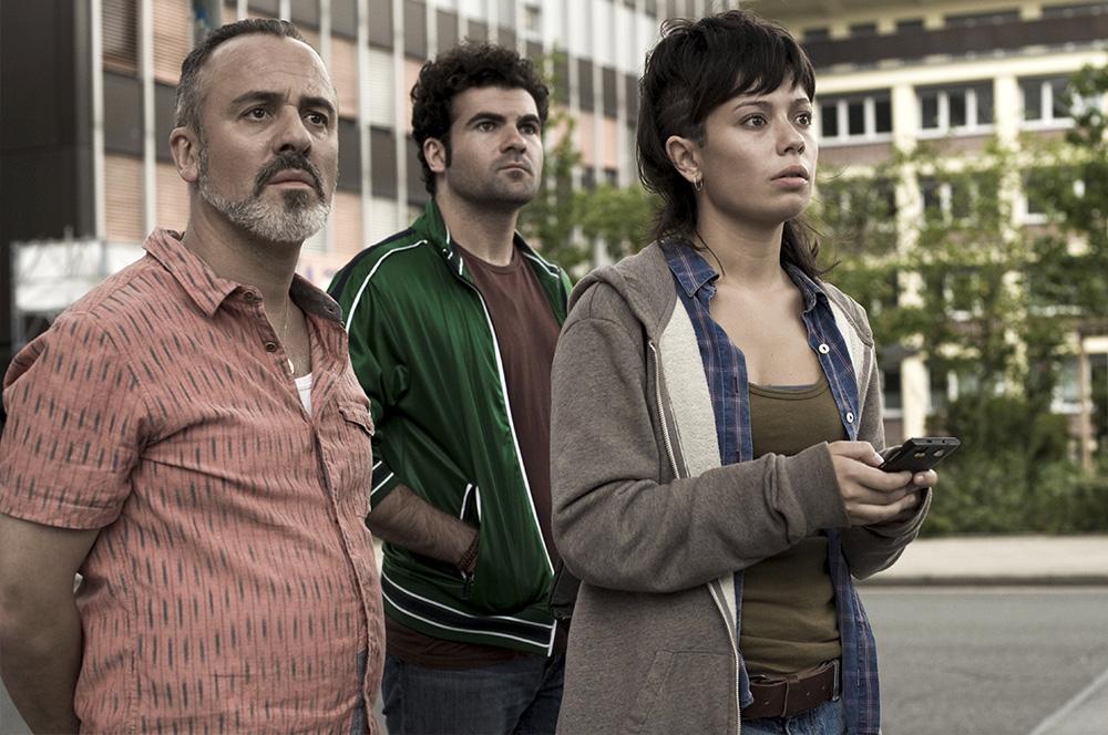 Javier Gutiérrez, Pep Ambròs y Anna Castillo en El olivo