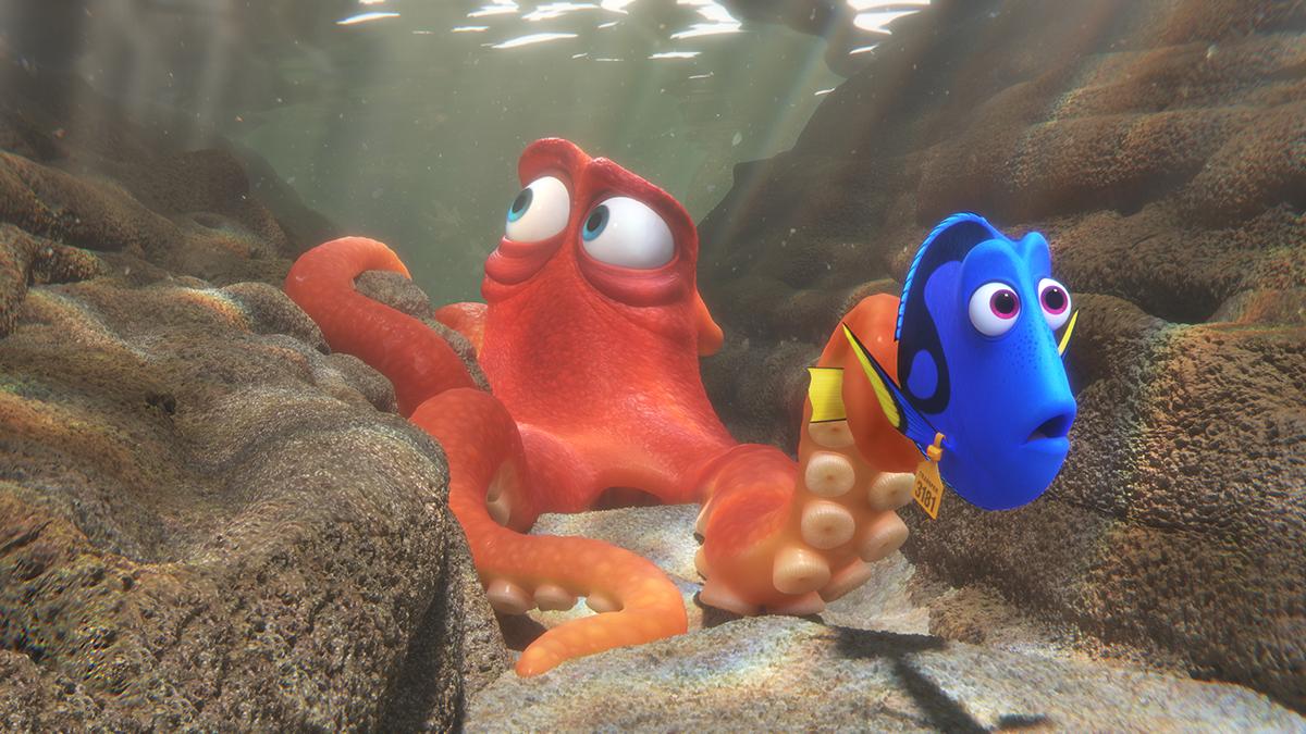 Hank y Dory en Buscando a Dory