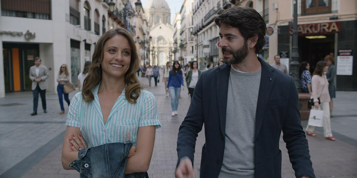 Michelle Jenner y Eduardo Noriega en Nuestros amantes