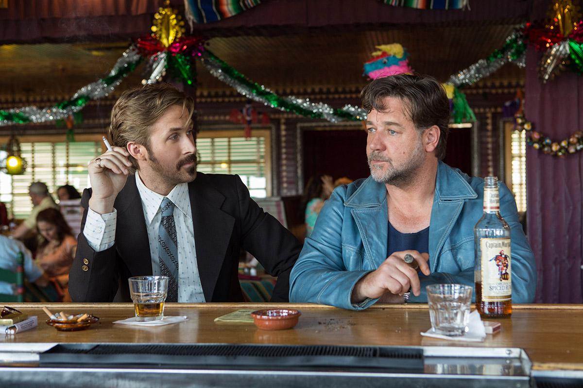 Ryan Gosling y Russell Crowe en Dos buenos tipos