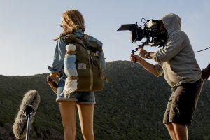 Blake Lively y Jaume Collet-Serra en el rodaje de Infierno azul