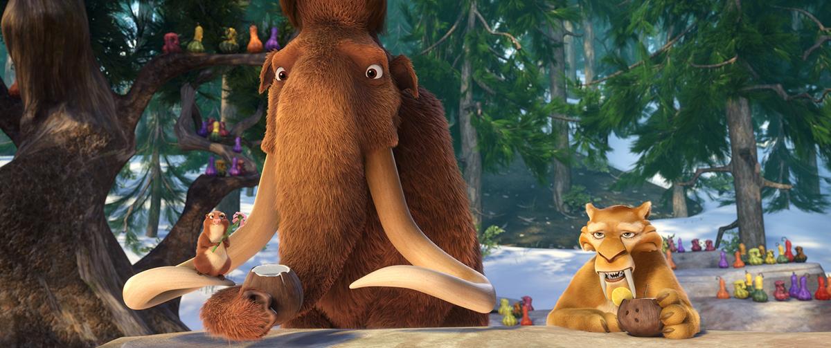 Manny y Diego en Ice Age: El gran cataclismo
