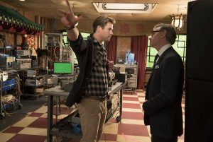 Chris Hemsworth y Paul Feig en el rodaje de Cazafantasmas (2016)