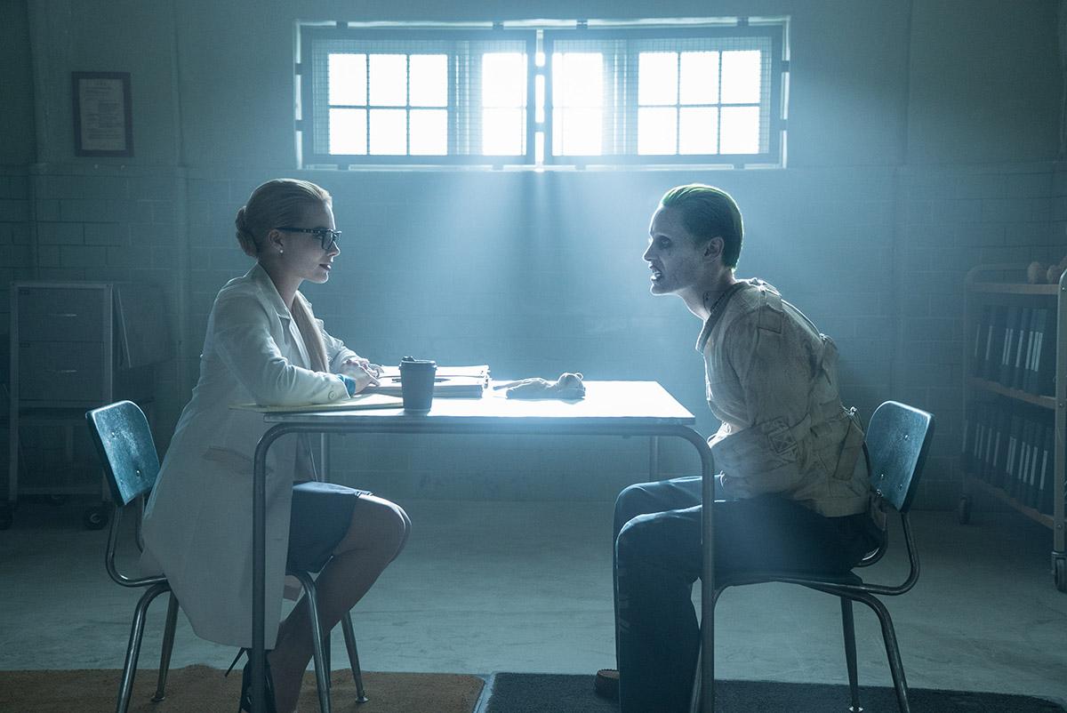 Margot Robbie y Jared Leto en Escuadrón Suicida
